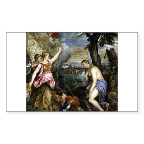 Spain Succouring Religion - Titian - c1572 Sticker