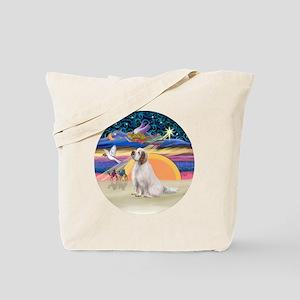 R-XmasAngel-ClumberSpaniel Tote Bag
