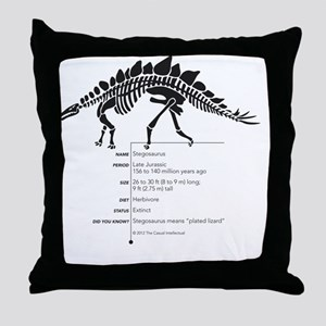 Stegosaurus Bones Throw Pillow