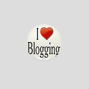 I Love Blogging Mini Button