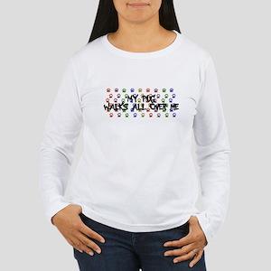 Pug Walks Women's Long Sleeve T-Shirt