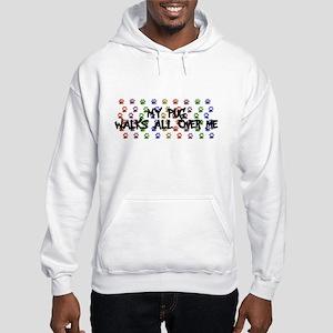 Pug Walks Hooded Sweatshirt