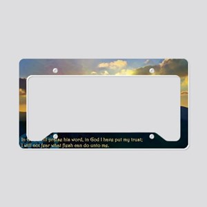 Psalms 56:4 License Plate Holder
