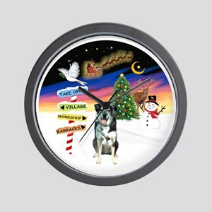 R-XmasSigns-CatahoulaLD Wall Clock