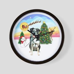 R-TakeOff-CatahoulaLeopardDog Wall Clock