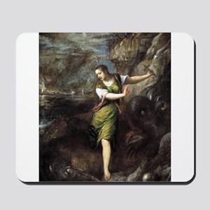 St Margaret and the Dragon - Titian - c1559 Mousep