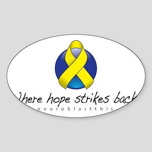 Neuroblast THIS Hope Strikes Back Sticker (Oval)