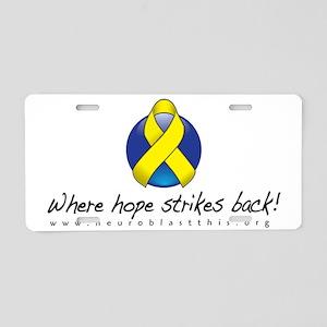 Neuroblast THIS Hope Strike Aluminum License Plate