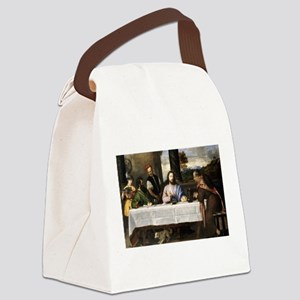 Supper of Emmaus - Titian - c1535 Canvas Lunch Bag