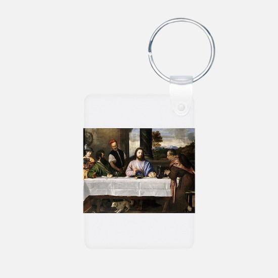 Supper of Emmaus - Titian - c1535 Keychains