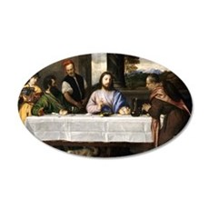 Supper of Emmaus - Titian - c1535 Wall Decal