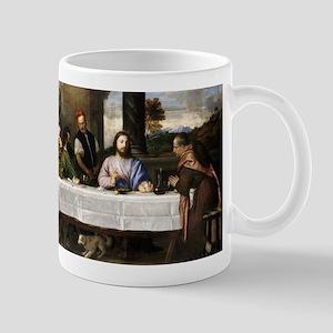 Supper of Emmaus - Titian - c1535 11 oz Ceramic Mu
