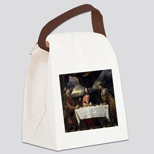 Supper of Emmaus - Titian - c1545 Canvas Lunch Bag