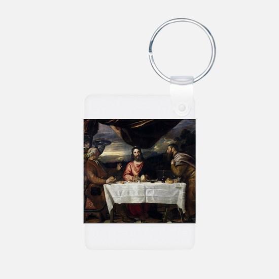 Supper of Emmaus - Titian - c1545 Keychains
