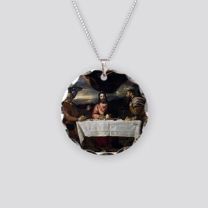 Supper of Emmaus - Titian - c1545 Necklace Circle