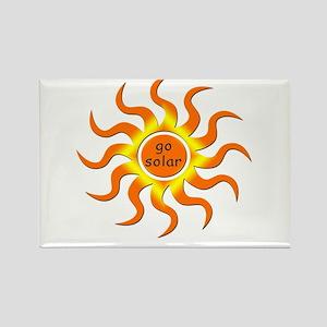 Solar Energy - Go Green Rectangle Magnet
