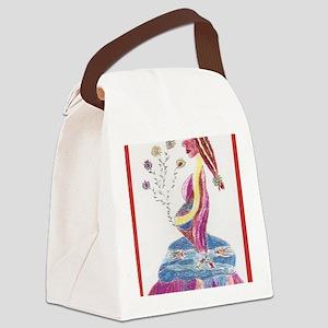 Pregnant Mermaid Canvas Lunch Bag