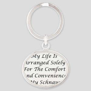 Schnauzer Convenience Oval Keychain