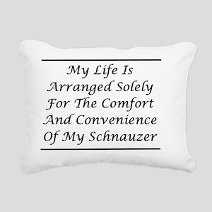 Schnauzer Convenience Rectangular Canvas Pillow