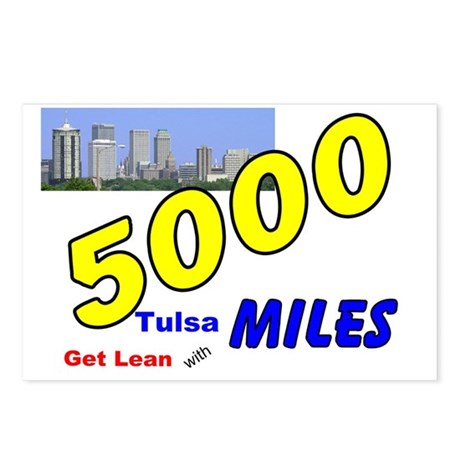 5000 miles Postcards (Package of 8)