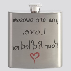 Your reflection loves you (female) Flask