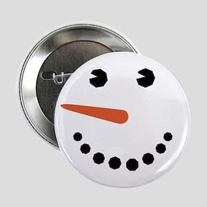 """Snowman Face Funny 2.25"""" Button"""