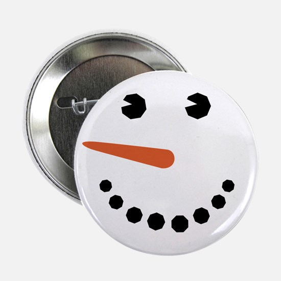 "Snowman Face Funny 2.25"" Button"