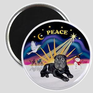 Black SharPei Puppy Magnet