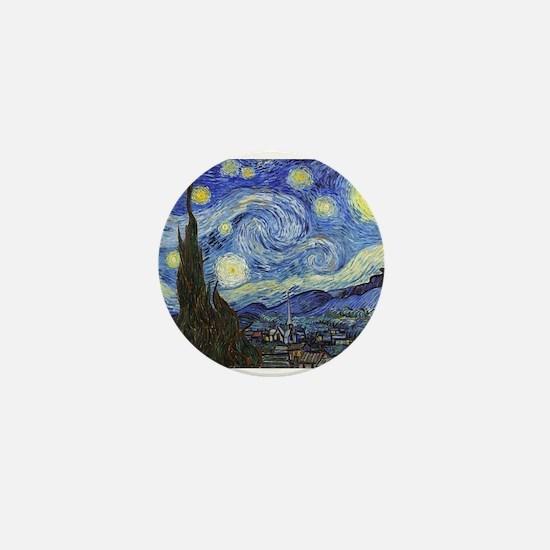 Starry Night - Van Gogh Mini Button