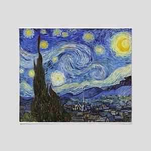 Starry Night - Van Gogh Throw Blanket