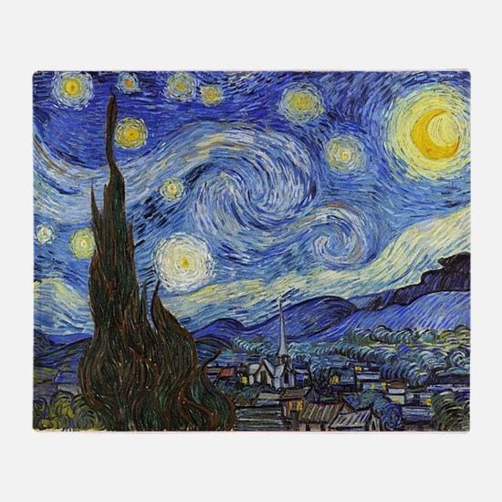 Starry Night - Van Gogh Throw Blanket