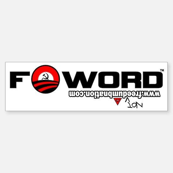 Barack Hussein Obama_FWord Sticker (Bumper)