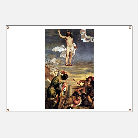 The Resurrection - Titian - c1542 Banner