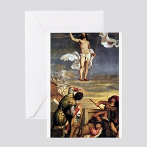 The Resurrection - Titian - c1542 Greeting Card