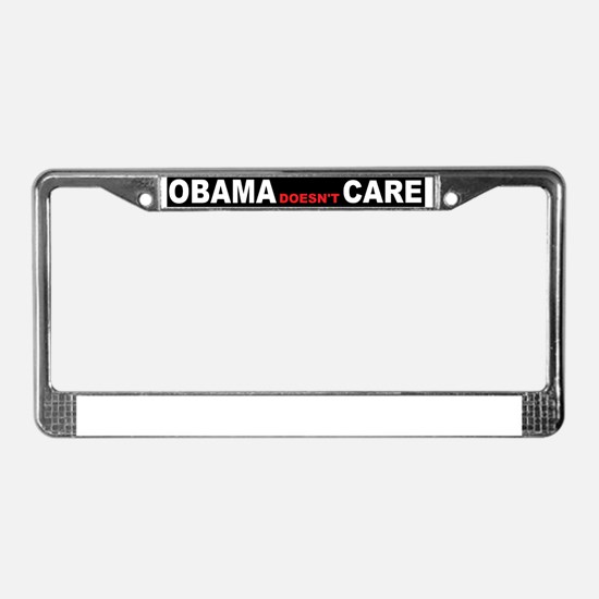 anti obama cared License Plate Frame