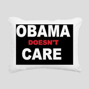 anti obama caredbutton Rectangular Canvas Pillow