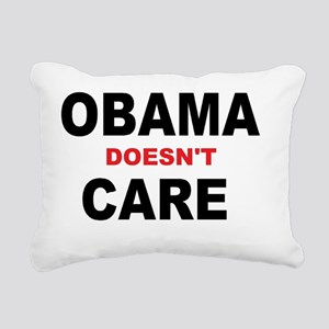 OBAMA doesnt CARE Rectangular Canvas Pillow