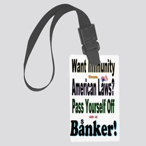 Bank_On_It! Large Luggage Tag
