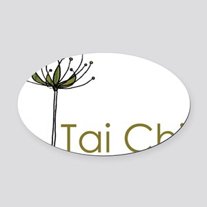 """""""Tai Chi Growth"""" Oval Car Magnet"""