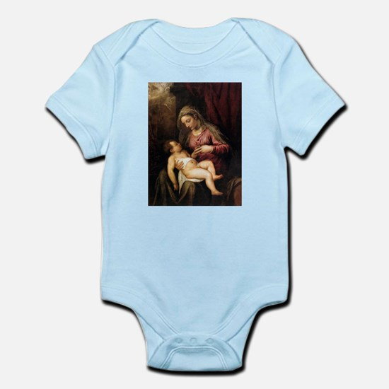 Virgin and Child - Titian - c1560 Baby Light Bodys