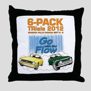 6-Pack TRials 2012 Throw Pillow