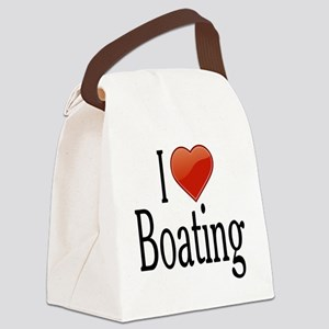 I Love Boating Canvas Lunch Bag