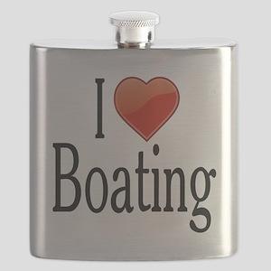 I Love Boating Flask
