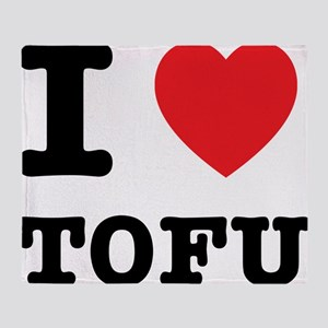 I Heart Tofu Throw Blanket
