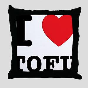 I Heart Tofu Throw Pillow