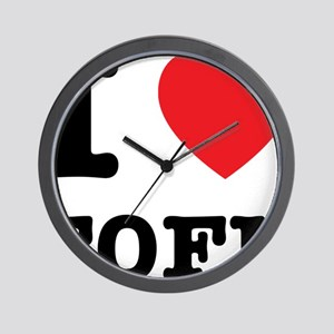 I Heart Tofu Wall Clock