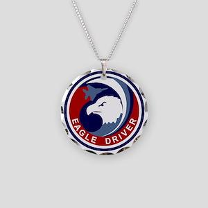 F-15 Eagle Necklace Circle Charm