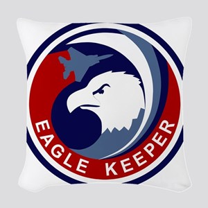 F-15 Eagle Keeper Woven Throw Pillow