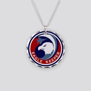 F-15 Eagle Keeper Necklace Circle Charm