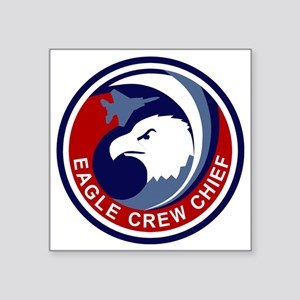 "F-15 Eagle Crew Chief Square Sticker 3"" x 3"""
